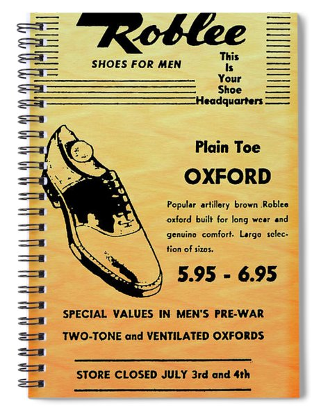 Buster Brown Shoes Ad In 1944 Spiral Notebook