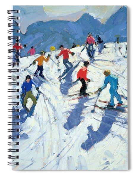 Busy Ski Slope Spiral Notebook