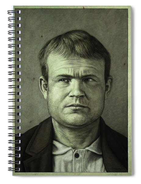 Spiral Notebook featuring the painting Butch Cassidy by James W Johnson