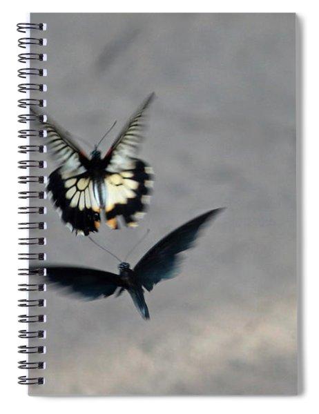 Butterflies At Wisley Gardens Surrey Spiral Notebook