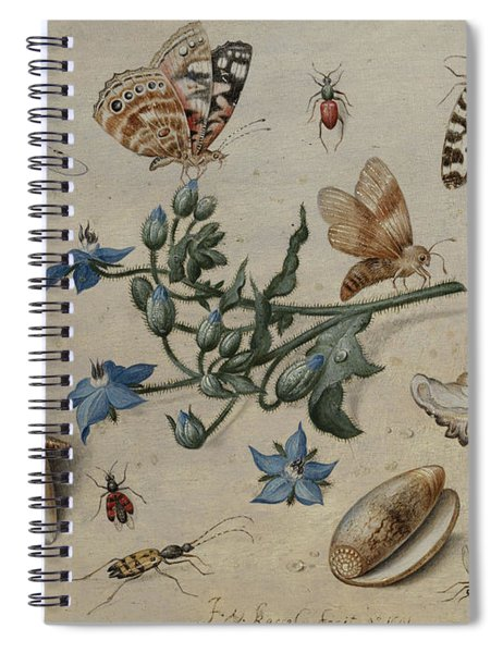 Butterflies, Clams, Insects And Flowers Spiral Notebook