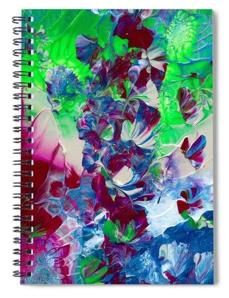 Butterflies, Fairies And Flowers Spiral Notebook