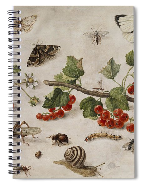 Butterflies, Insects And Currants Spiral Notebook
