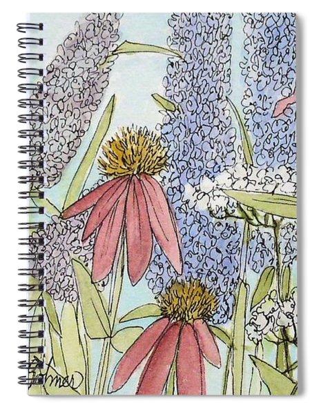 Butterfly Bush In Garden Spiral Notebook