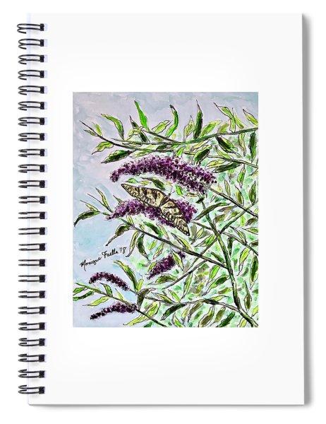 Butterfly Bush Spiral Notebook