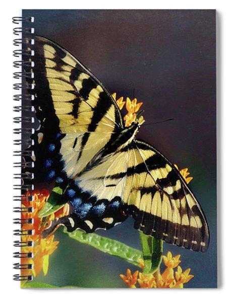 Spiral Notebook featuring the photograph Butterfly Landing by Andrea Platt