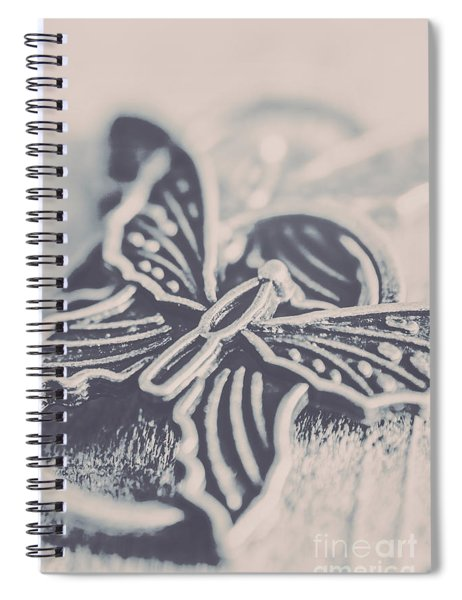 Butterfly Shaped Charm Spiral Notebook