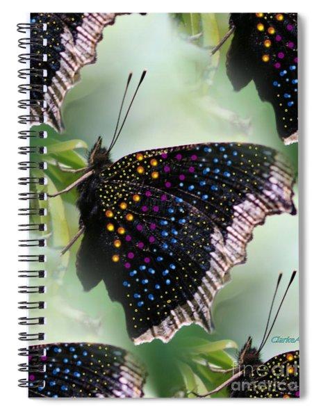 Butterfly Sunbath #2 Spiral Notebook