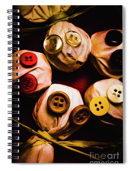 Button Sack Lollypop Monsters Spiral Notebook