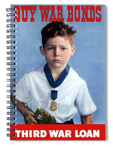 Buy War Bonds -- Third War Loan Spiral Notebook