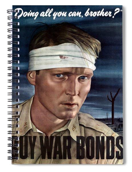 Buy War Bonds Spiral Notebook