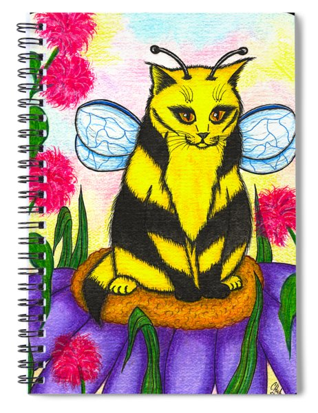 Buzz Bumble Bee Fairy Cat Spiral Notebook