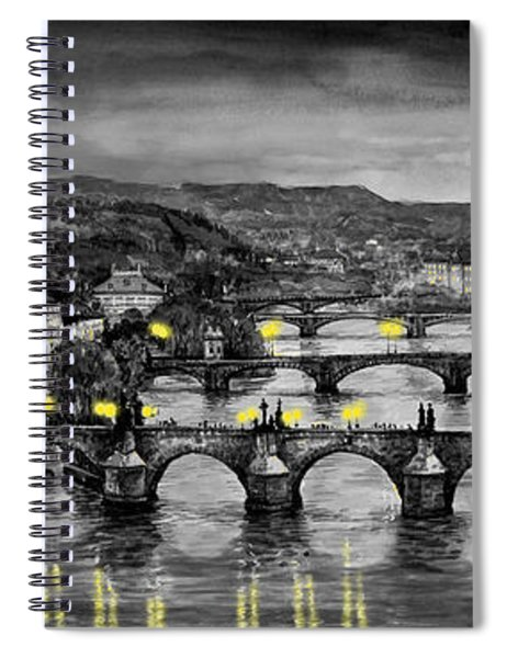 Bw Prague Bridges Spiral Notebook
