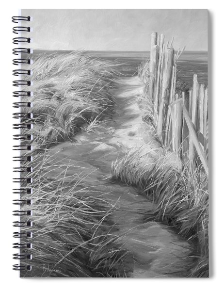 By The Sea - Black And White Spiral Notebook