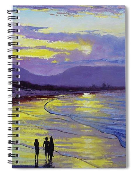 Byron Bay Sunset Spiral Notebook