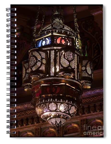 Byzantine Lamp Spiral Notebook