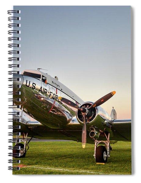 C-47 At Dusk Spiral Notebook