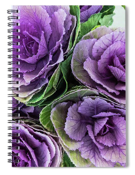 Cabbage Flower Spiral Notebook