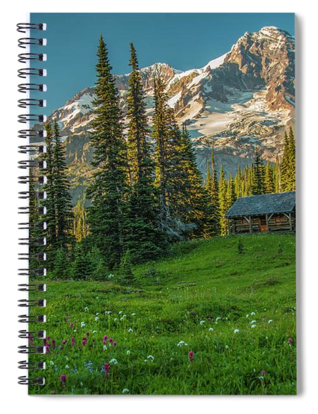 Cabin On The Hill Spiral Notebook