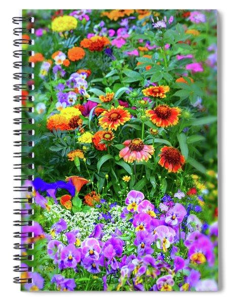 Summer Symphony Of Color Spiral Notebook