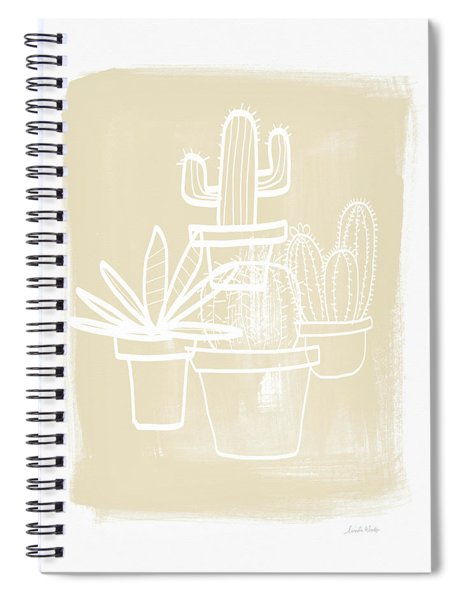 Cactus In Pots- Art By Linda Woods Spiral Notebook by Linda Woods
