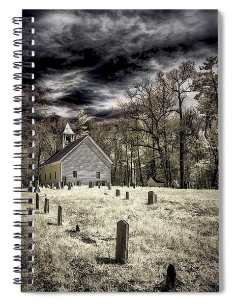 Cades Cove Church Spiral Notebook