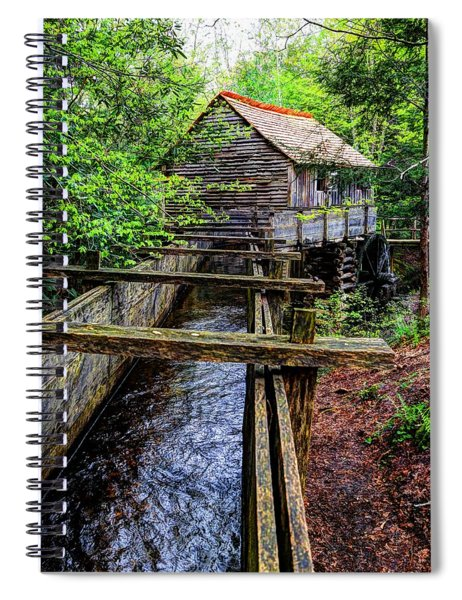 Cades Cove Grist Mill In The Great Smoky Mountains National Park  Spiral Notebook