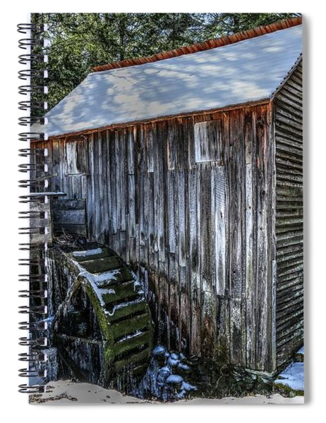 Cades Cove Grist Mill In Winter Spiral Notebook