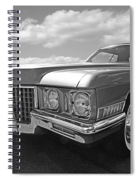 Cadillac Coupe De Ville 1971 In Black And White Spiral Notebook