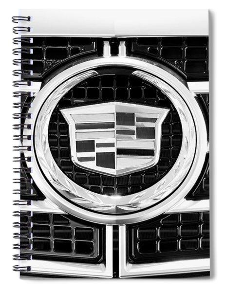 Cadillac Emblem Front Bw Spiral Notebook