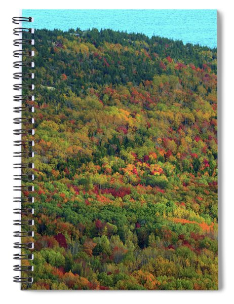 Spiral Notebook featuring the photograph Cadillac Mountain Autumn by Patti Whitten