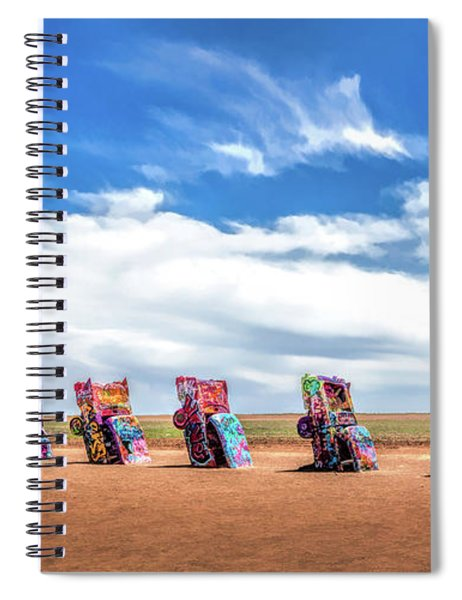 Route 66 Cadillac Ranch Spiral Notebook