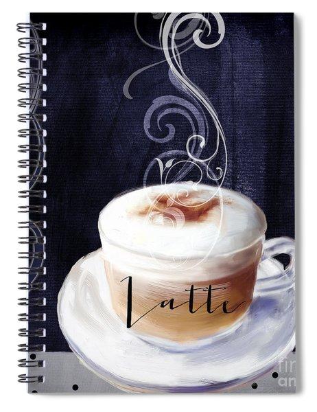 Cafe Blue II Spiral Notebook