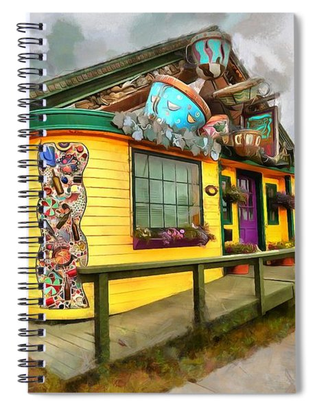 Cafe Cups Spiral Notebook