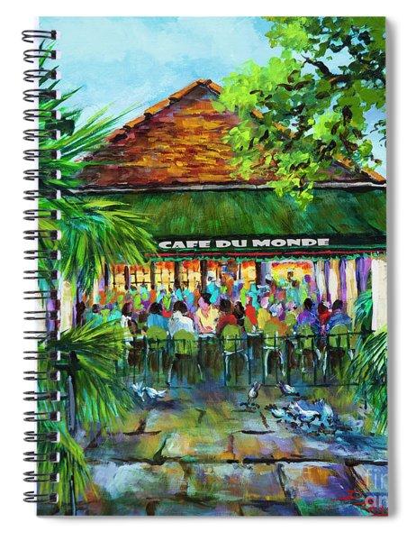 Cafe Du Monde Morning Spiral Notebook
