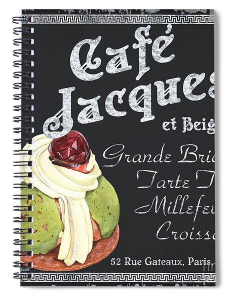Cafe Jacques Spiral Notebook