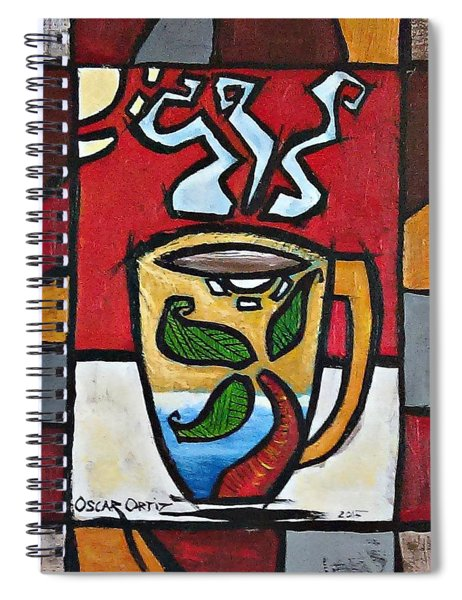 Cafe Palmera Spiral Notebook