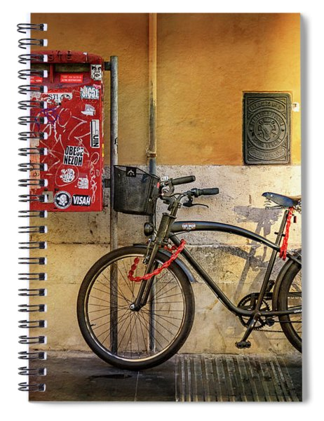 Cafe Racer Bicycle Spiral Notebook
