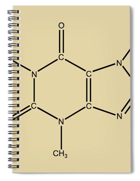 Caffeine Molecular Structure Vintage Spiral Notebook