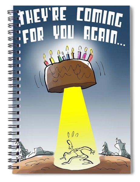 Cake Spaceship Spiral Notebook