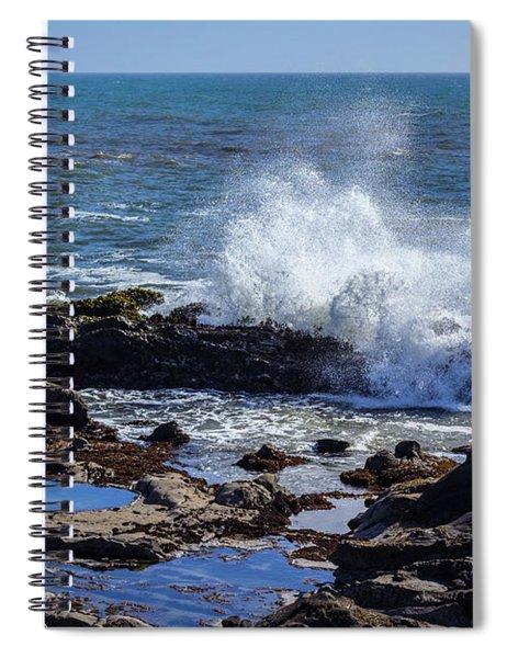 Wave Crashing On California Coast Spiral Notebook