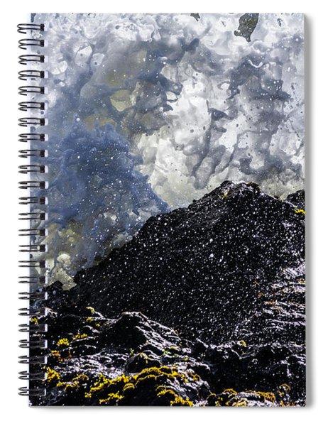California Coast Wave Crash 5 Spiral Notebook