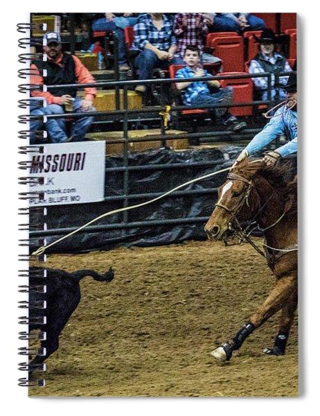 Calf Roper On Target Spiral Notebook