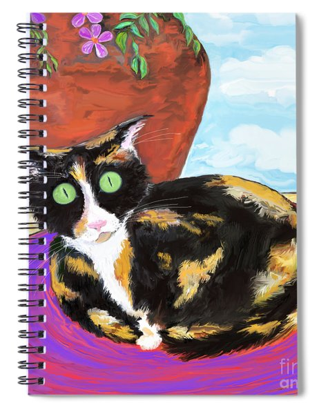 Calico Cat On A Rug  Spiral Notebook