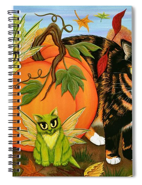 Calico's Mystical Pumpkin Spiral Notebook