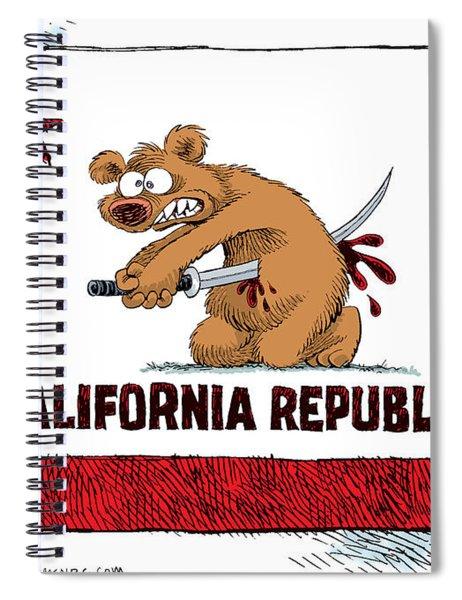 California Budget Harakiri Spiral Notebook