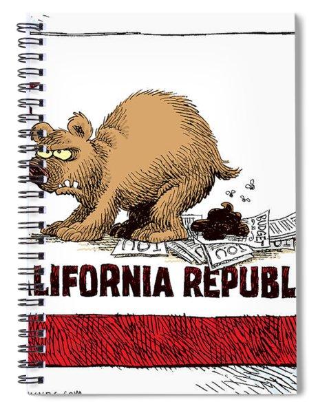 California Budget Iou Spiral Notebook
