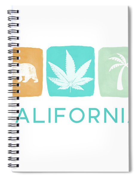 California Cannabis- Art By Linda Woods Spiral Notebook