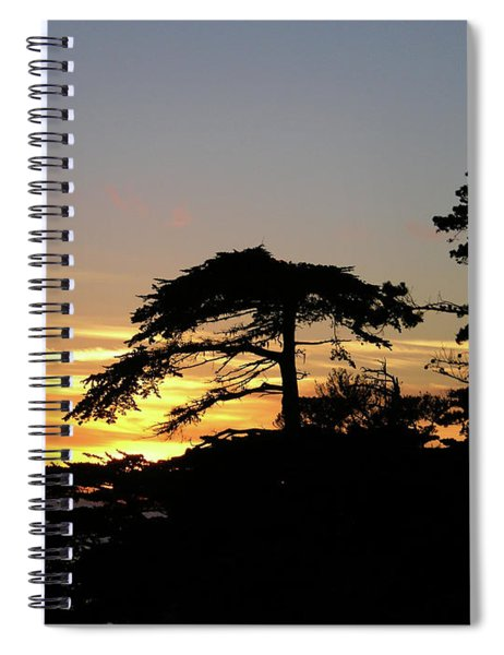 California Coastal Sunset Spiral Notebook