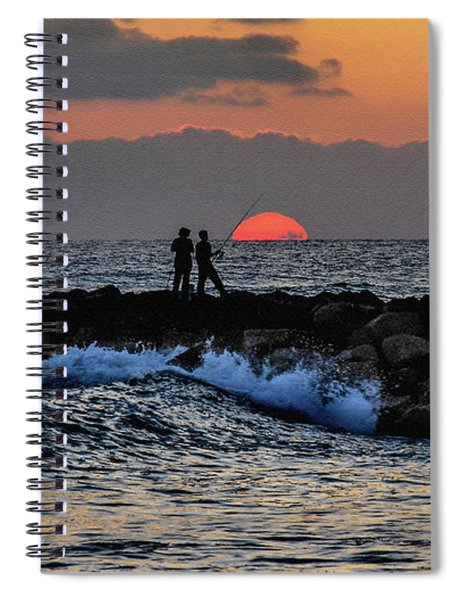 California Evening With Sandstone Effect Spiral Notebook